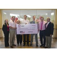 KFC Presents to Susan G. Komen for the Cure a Check for More Than $4.2 Million