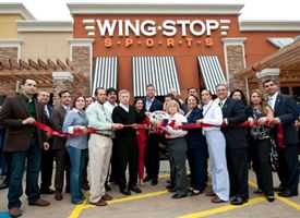 Wingstop Sports Grand Opening Ribbon Cutting.