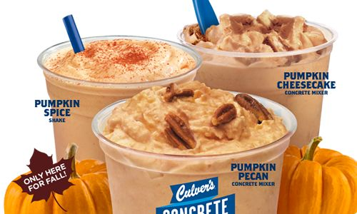 Culver's Decadent Pumpkin Treats Return for a Limited Time