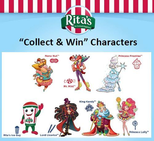 Rita's Italian Ice Begins CANDY LAND Collect and Win Game