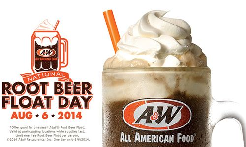 A & W National Root Beer Float Day