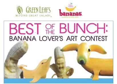 Villa Enterprises Introduces New Flavored Ice Teas at Green Leaf's & Bananas and Kicks Off Banana Art Contest