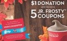 "Wendy's Frosty Fans Can ""Trick or Treat"" It Forward This Fall"