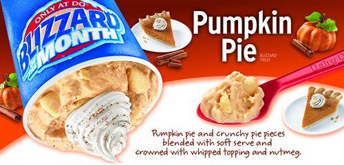 Pumpkin pie blizzard cake recipe