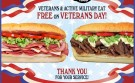 Tubby's Sub Shops to Offer U.S. Veterans Free Subs on Veterans Day, November 11