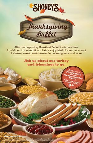 Shoneys Will Be Open On Thanksgiving Invites America To Enjoy Its