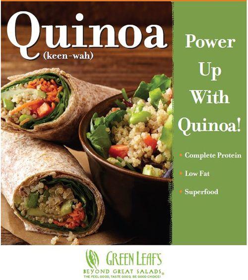 Green Leaf's Restaurants Adds Sesame Asian Quinoa to Menu