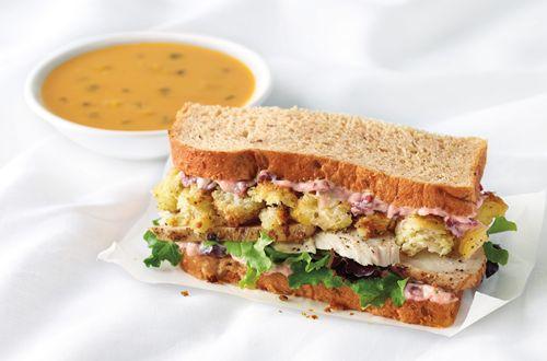corner bakery cafe chicken pesto sandwich on ciabatta ...