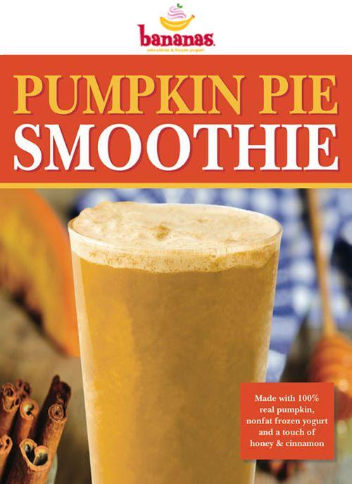Bananas Restaurants Introduces Pumpkin Pie Smoothie