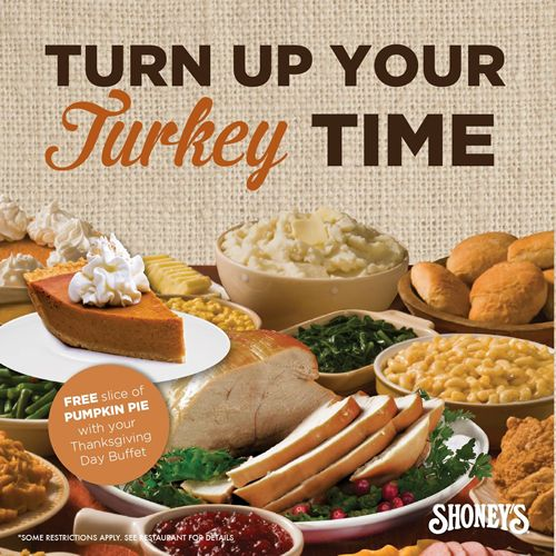 Shoneys Doors Are Wide Open On Thanksgiving Day For All You Can Eat