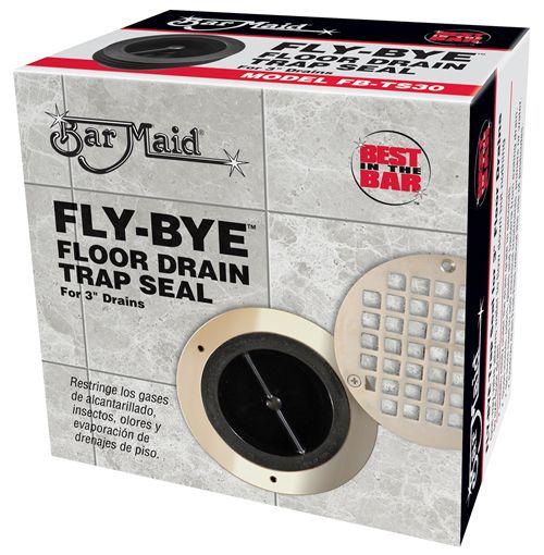 New fly bye floor drain trap seal makes drains virtually