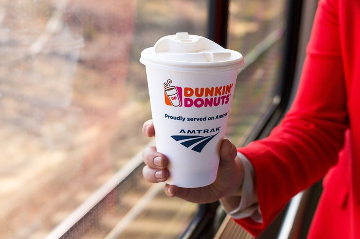 Dunkin' Donuts Hot Coffee Now Available On Board Amtrak Acela Express