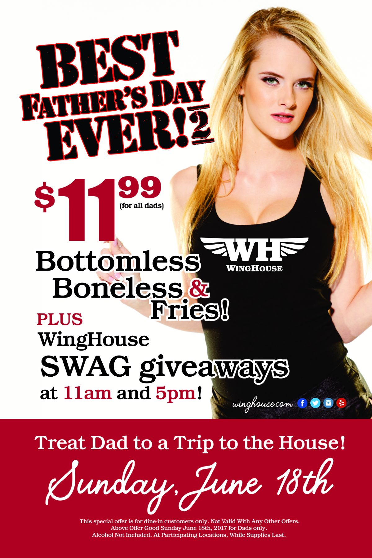 "Celebrate the Best Father's Day Ever ""2"" at WingHouse"
