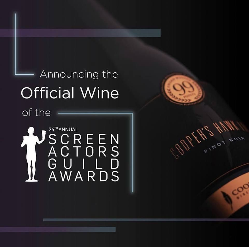 Cooper's Hawk Winery & Restaurants Named Official Wine of the 24th Annual Screen Actors Guild Awards