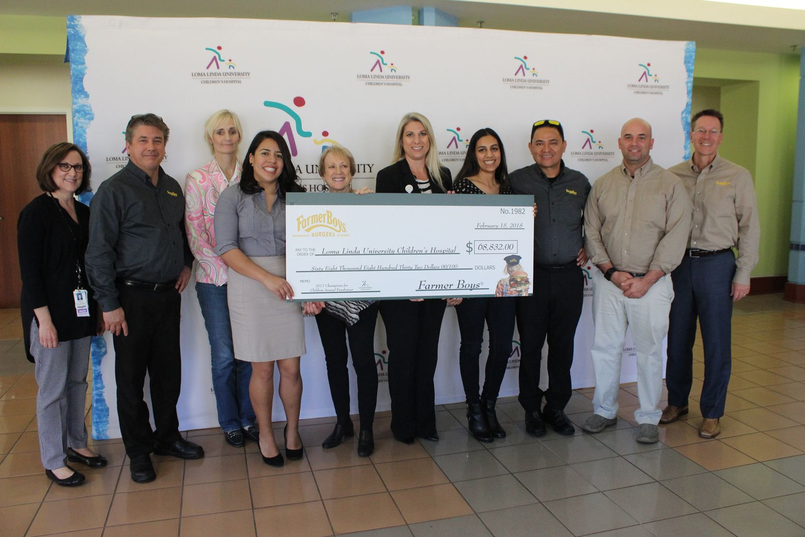 Farmer Boys Raises Nearly $70,000 for Loma Linda University Children's Hospital