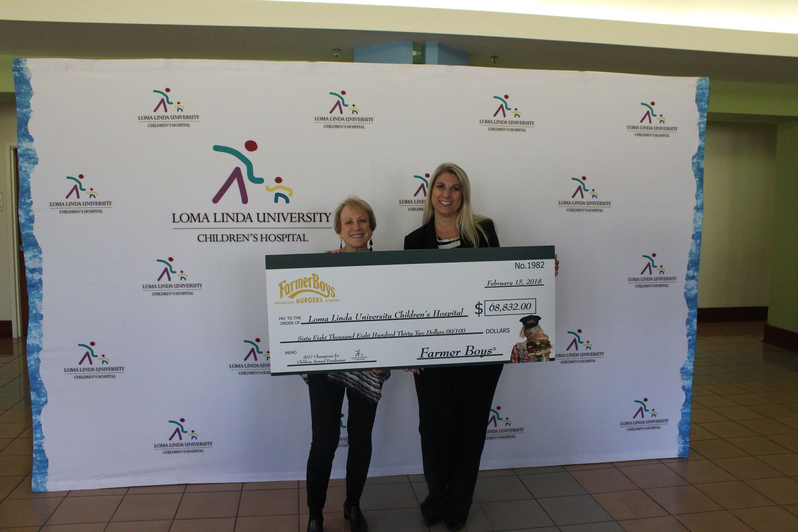 Farmer Boys Raises Nearly $70,000 for Loma Linda University Children's Hospital