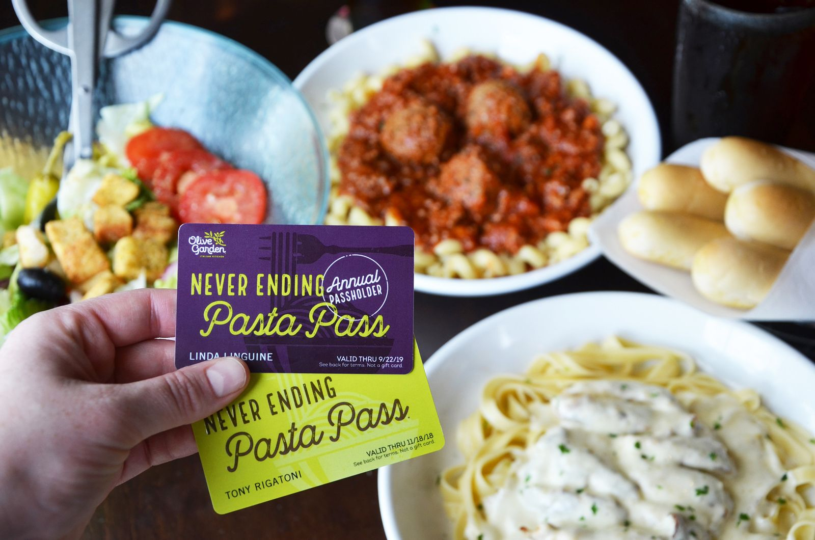 olive garden introduces first of its kind annual pasta pass that extends - Olive Garden Donation Request