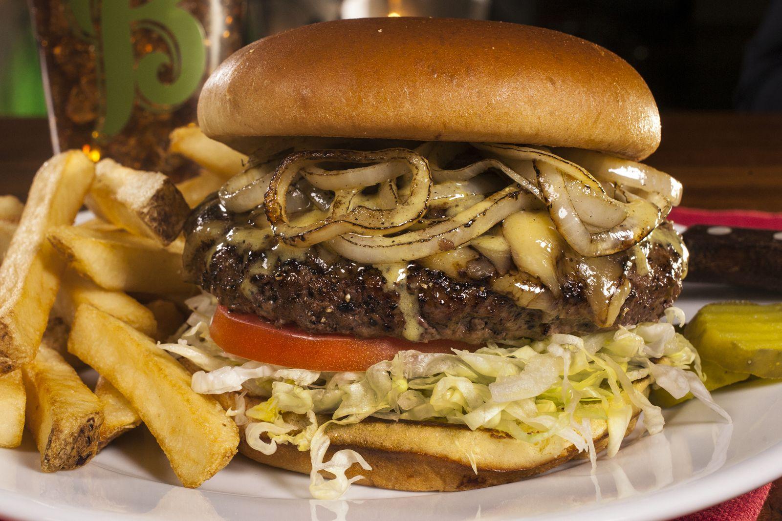 Bennigan's Oktoberfest Burger