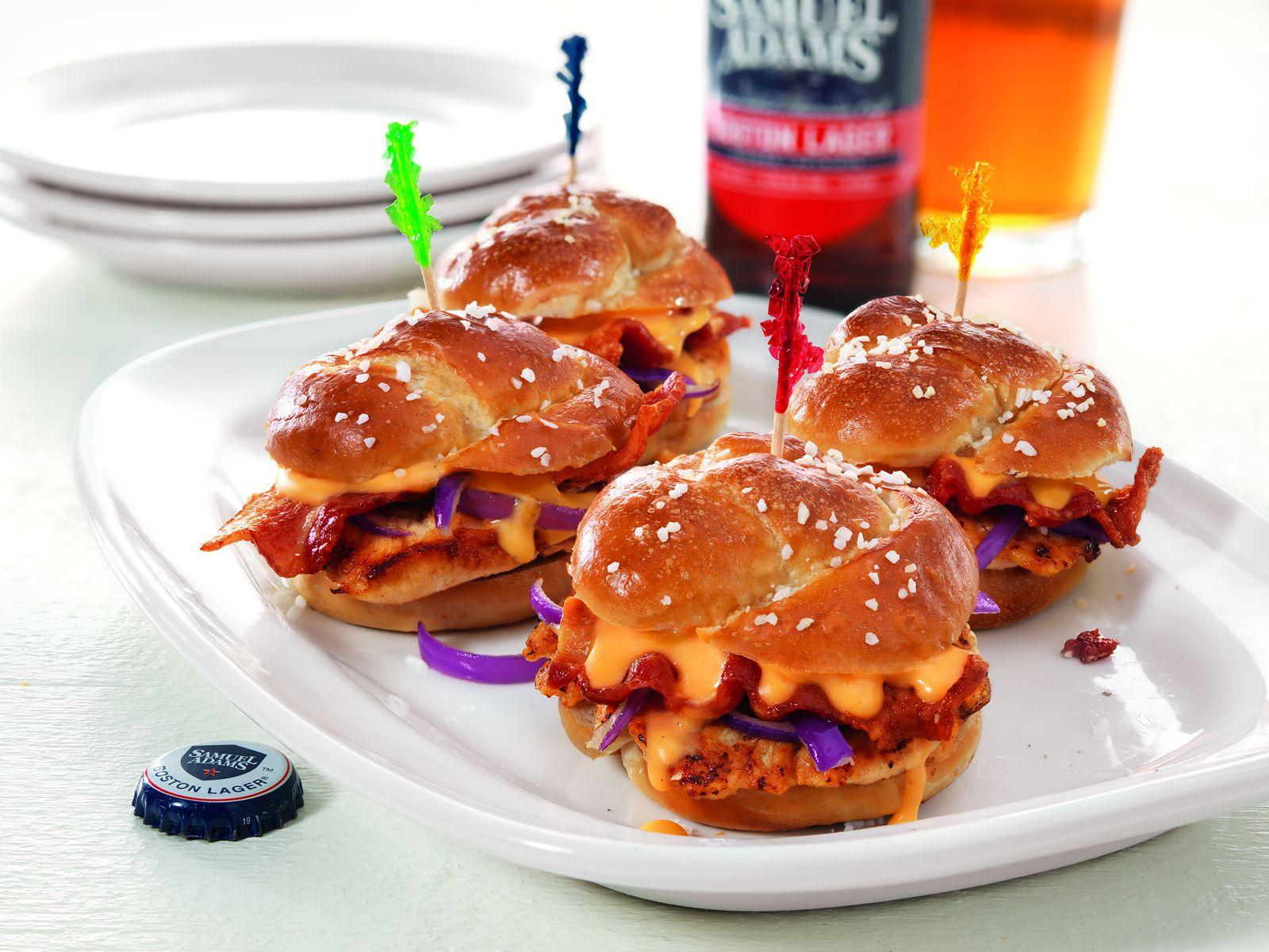 Buffalo Wings & Rings Sam Adams Beer Cheese Chicken Sliders