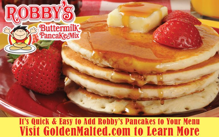 Add Robby's Buttermilk Pancakes to Your Menu - Exclusively from Golden Malted