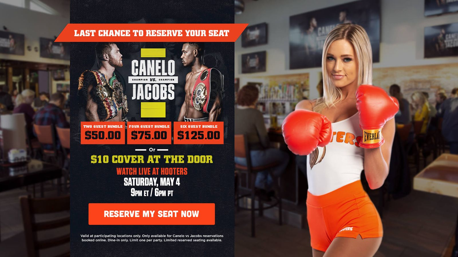 Hooters to Show Canelo Alvarez vs Daniel Jacobs