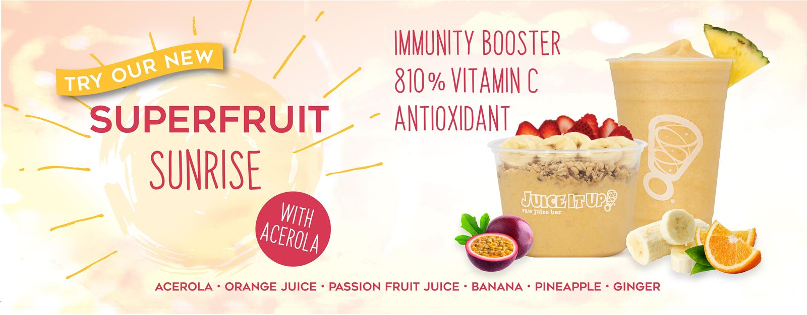 Juice It Up! Focuses on Functional with New Superfruit Sunrise