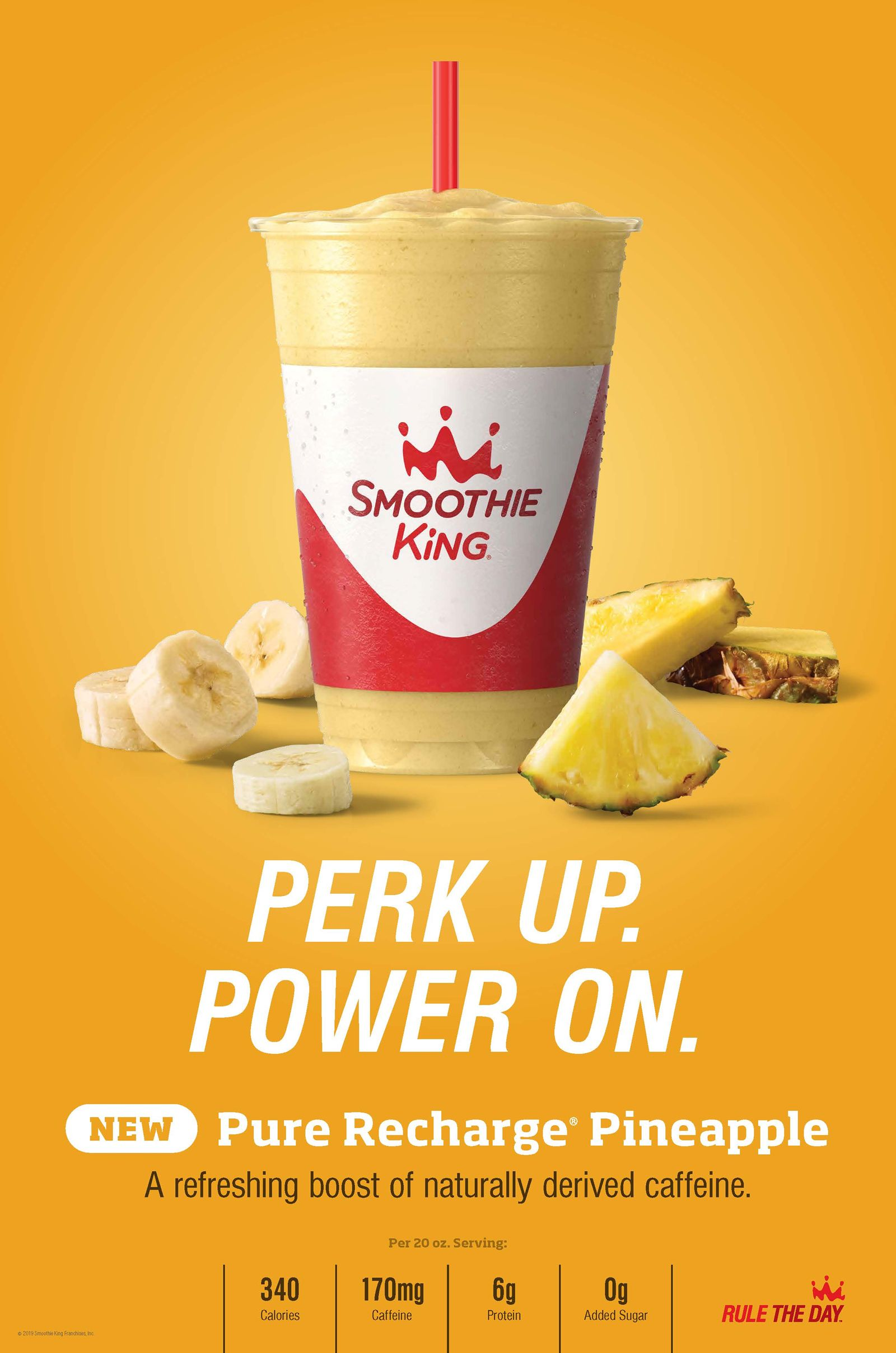 Rule the Day with Smoothie King's New Pure Recharge Pineapple Smoothie