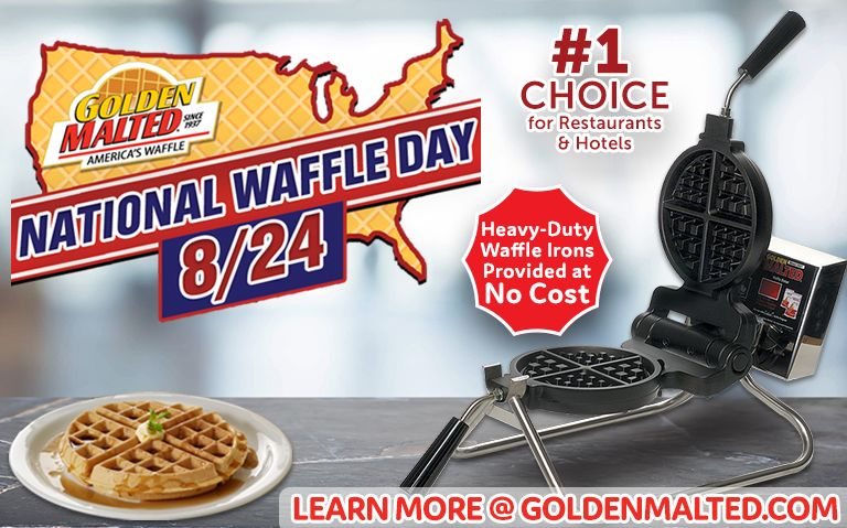 National Waffle Day is Coming - Add Golden Malted Waffles to Your Menu