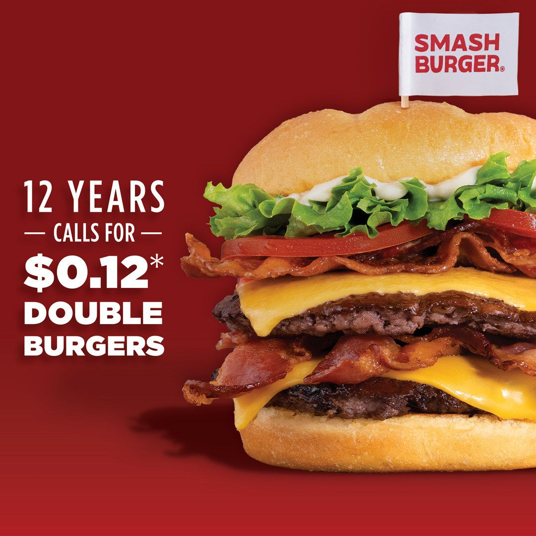 Smashburger Celebrates 12th Anniversary with 12 Cent Burgers for All
