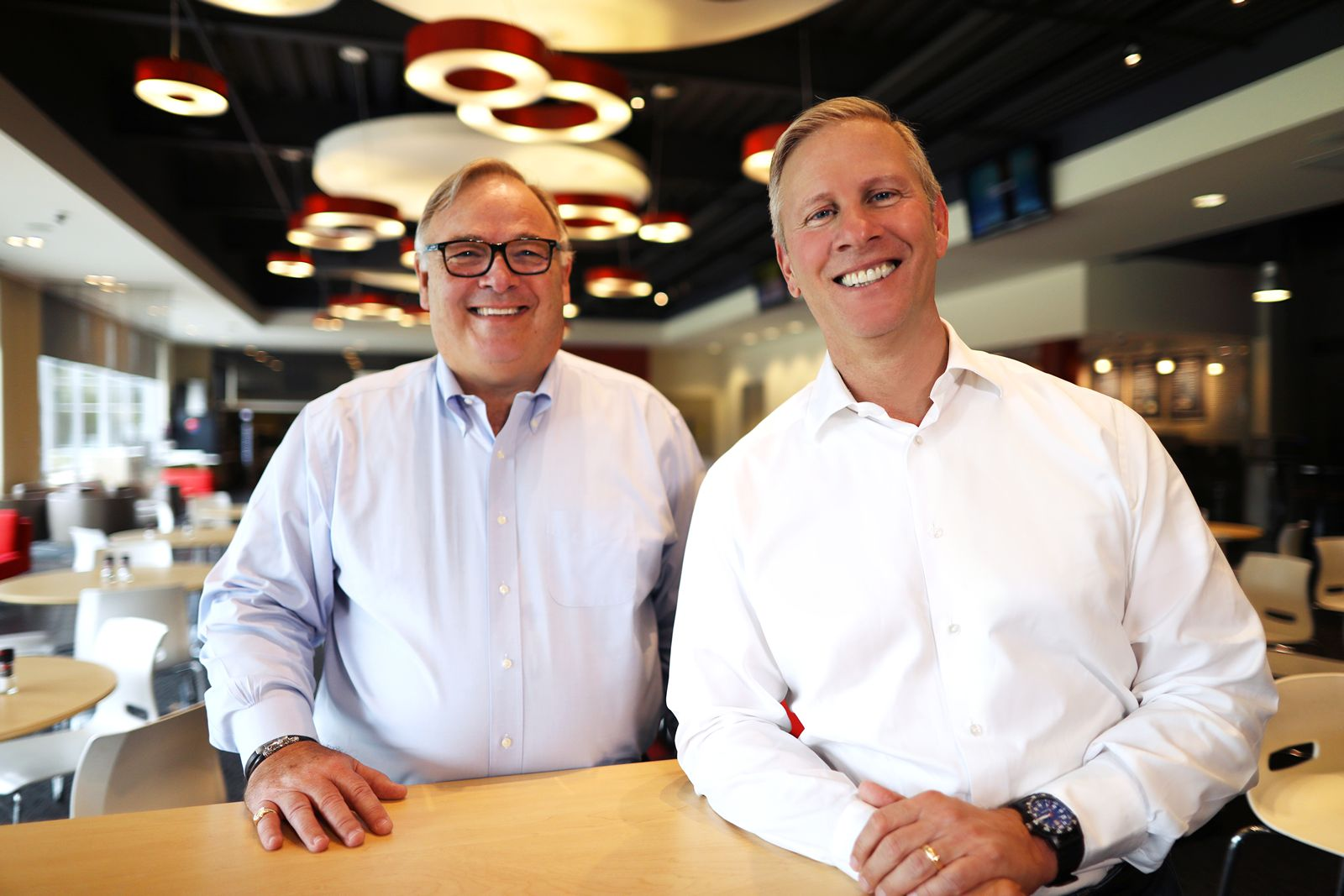 Pictured, left to right: Yum! Brands CEO Greg Creed with President and Chief Operating Officer David Gibbs.