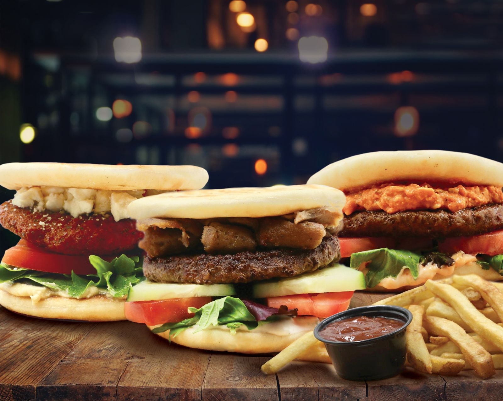 Daphne's has introduced a line of three Pita Burgers, which are available at all 21 Daphne's locations through December 31.