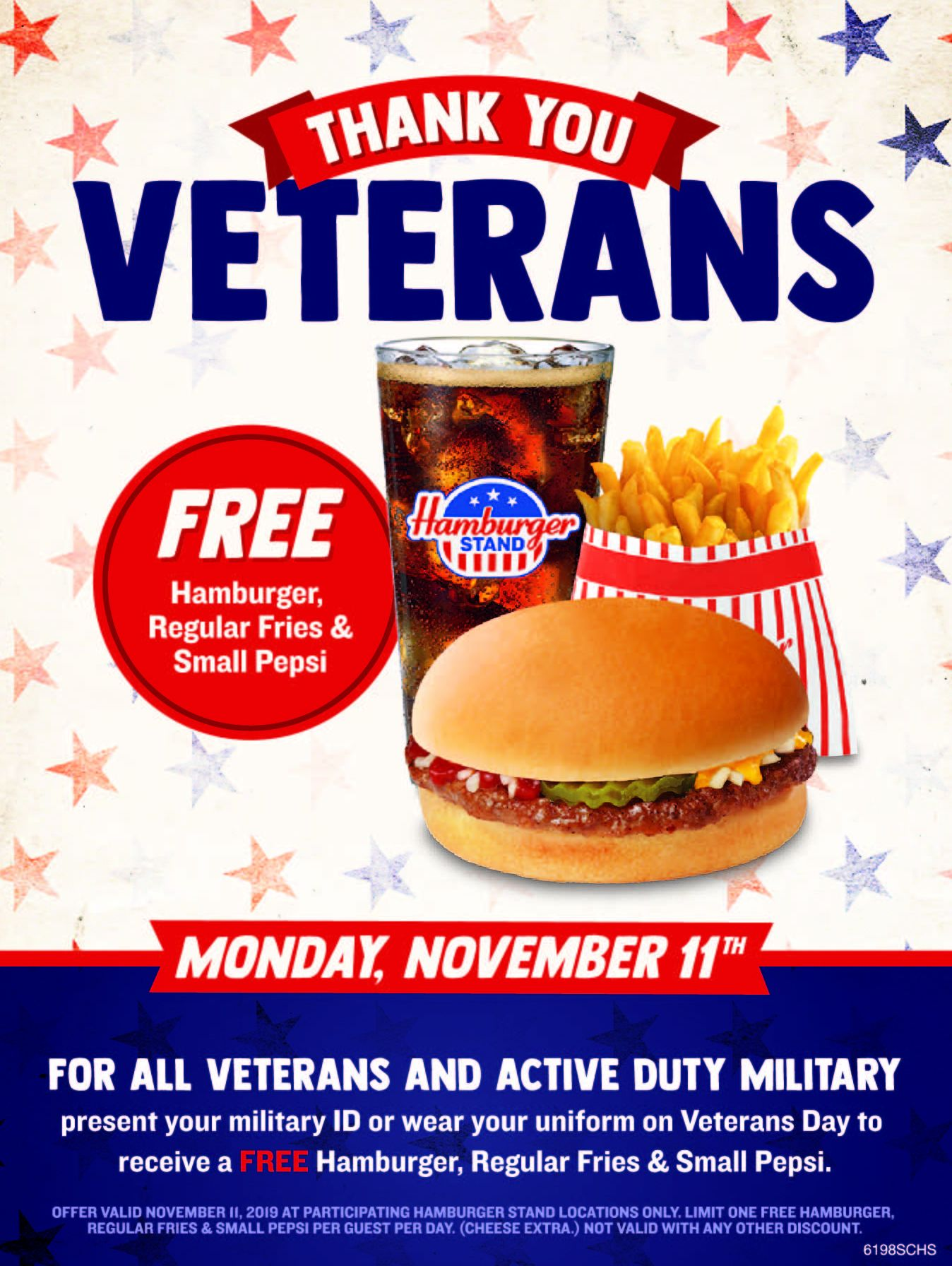 Hamburger Stand Offers Free Meal to Military Members on Veterans Day
