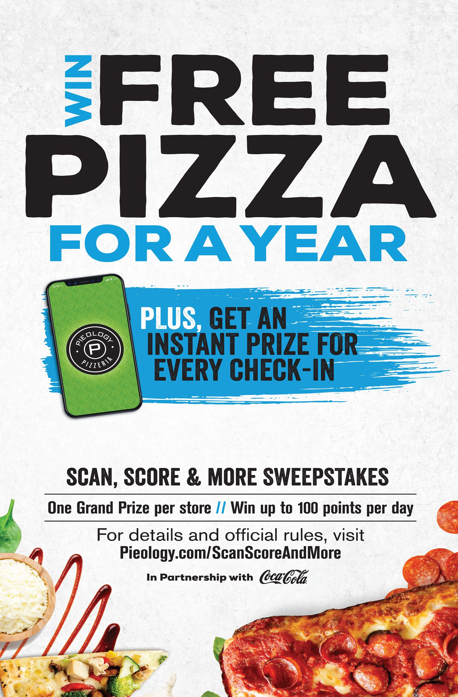 """Pieology Celebrates National Pizza Month by Rewarding Pizza Lovers with """"Scan, Score & More Sweepstakes"""""""