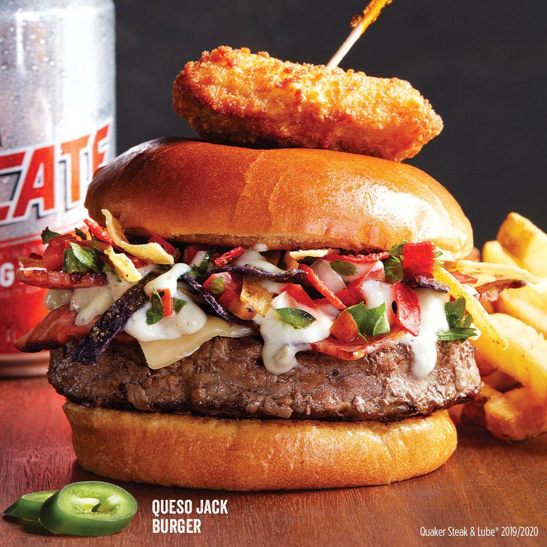 Quaker Steak & Lube Queso Jack Burger