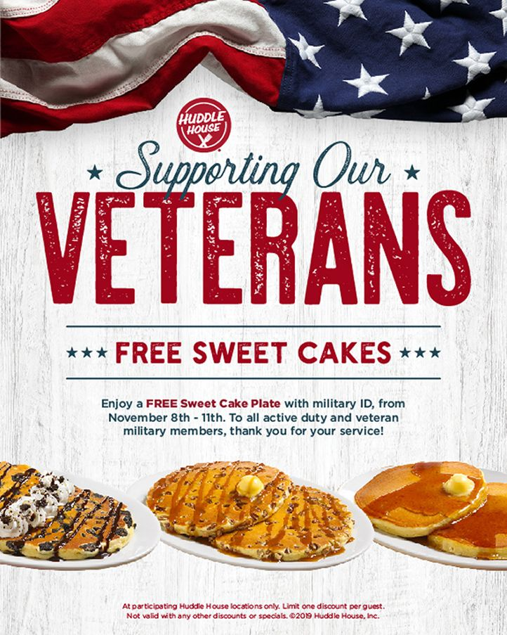 Huddle House Shows Appreciation for Military on Veterans Day