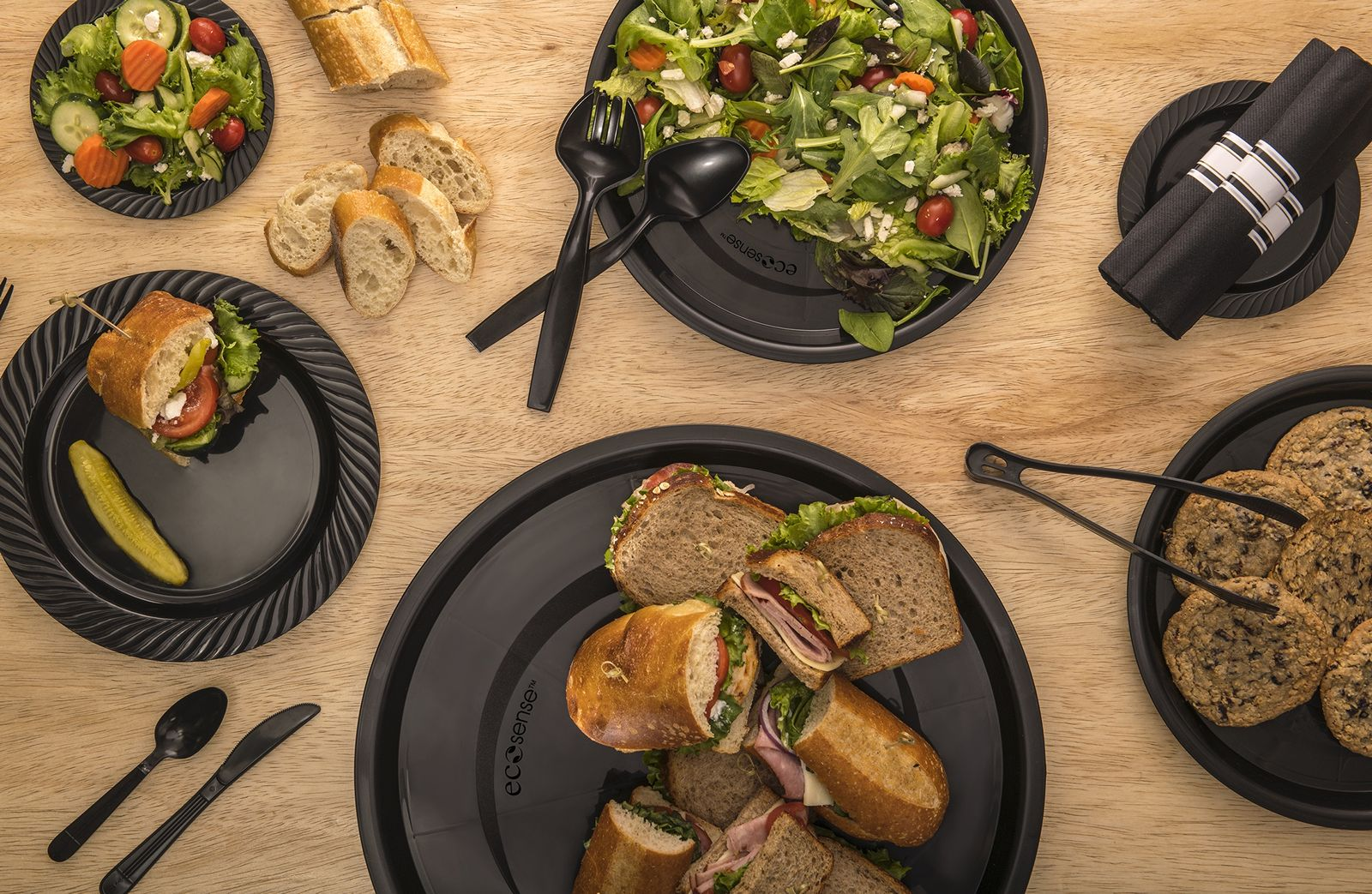 Novolex Introduces EcoSense Catering Trays, Plates and Utensils