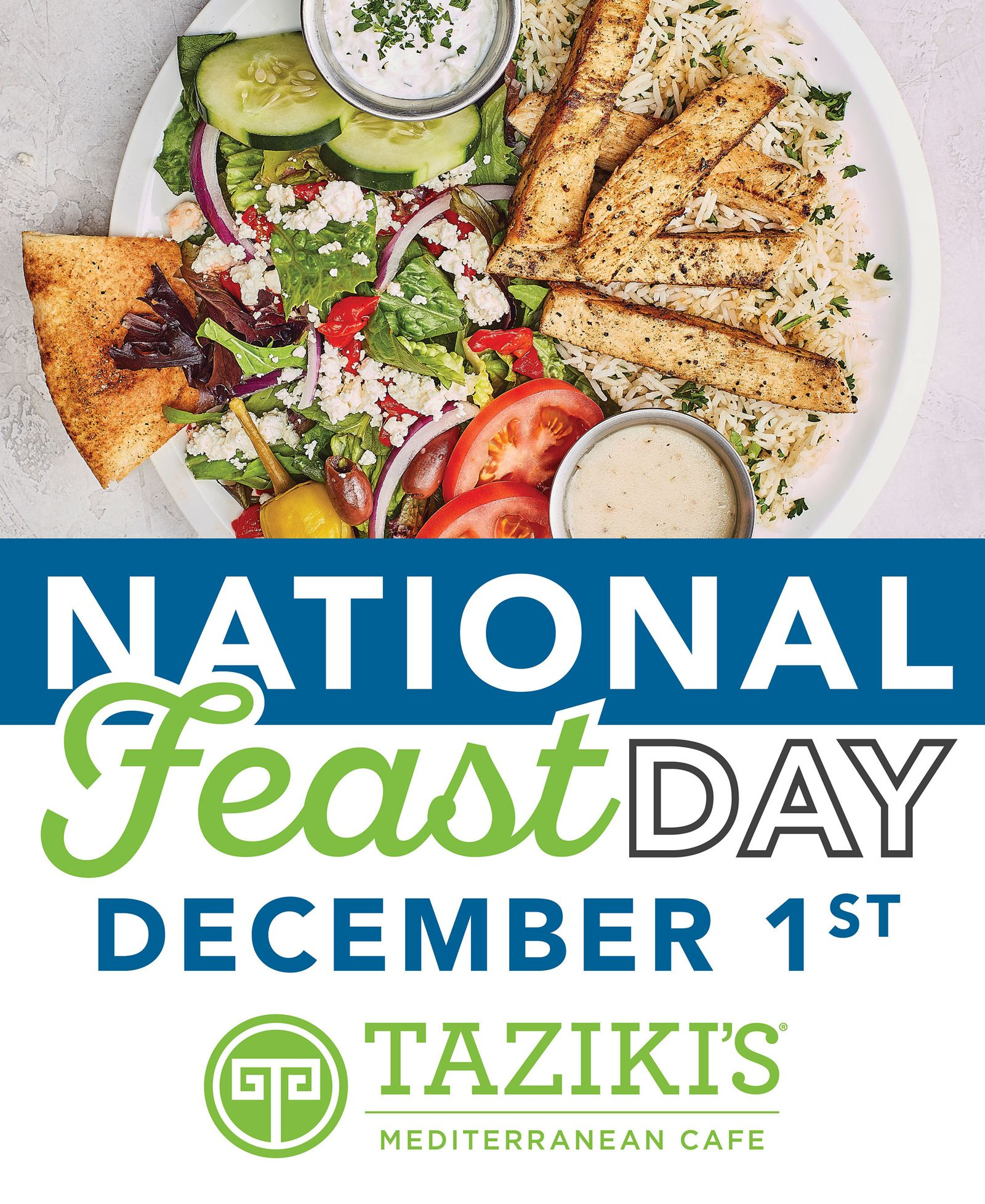 Taziki's Mediterranean Café Celebrates Annual National Feast Day with Giveaway