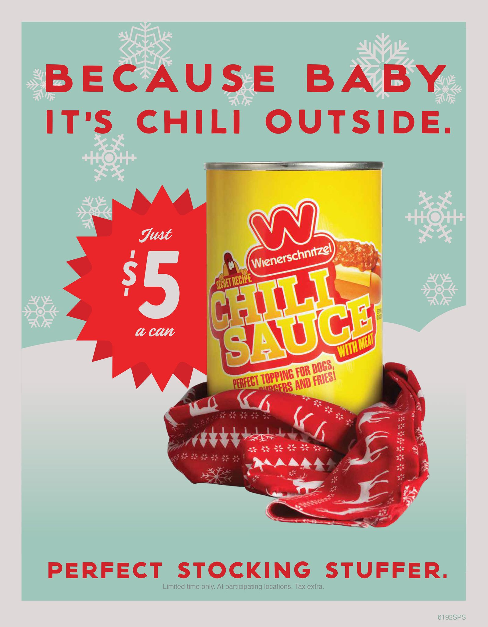 Wienerschnitzel's Famous Can of Chili is the Stocking Stuffer You Didn't Know You Needed!