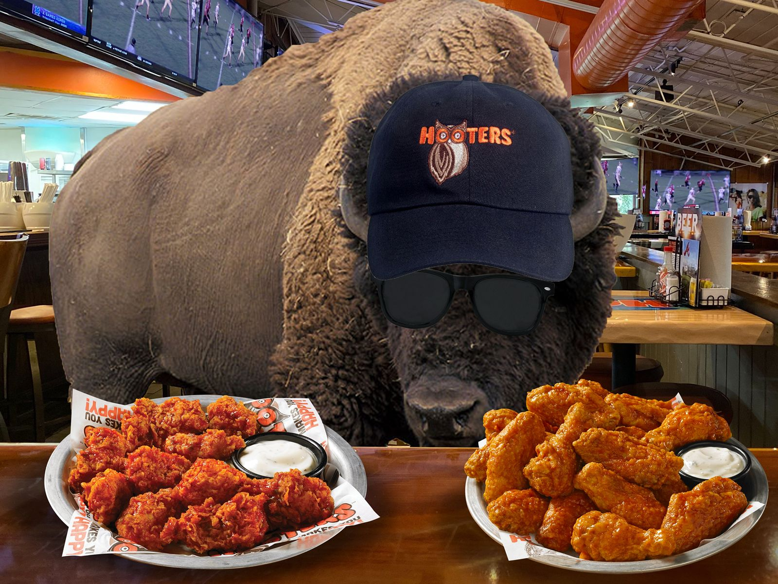 Hooters Ups the Ante on Buffalo Wild Wings 'Free Wings Offer' if the Big Game Goes Into OT