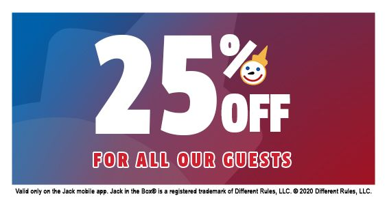 Jack in the Box Sends Thanks to Community Members by Offering 25% Off