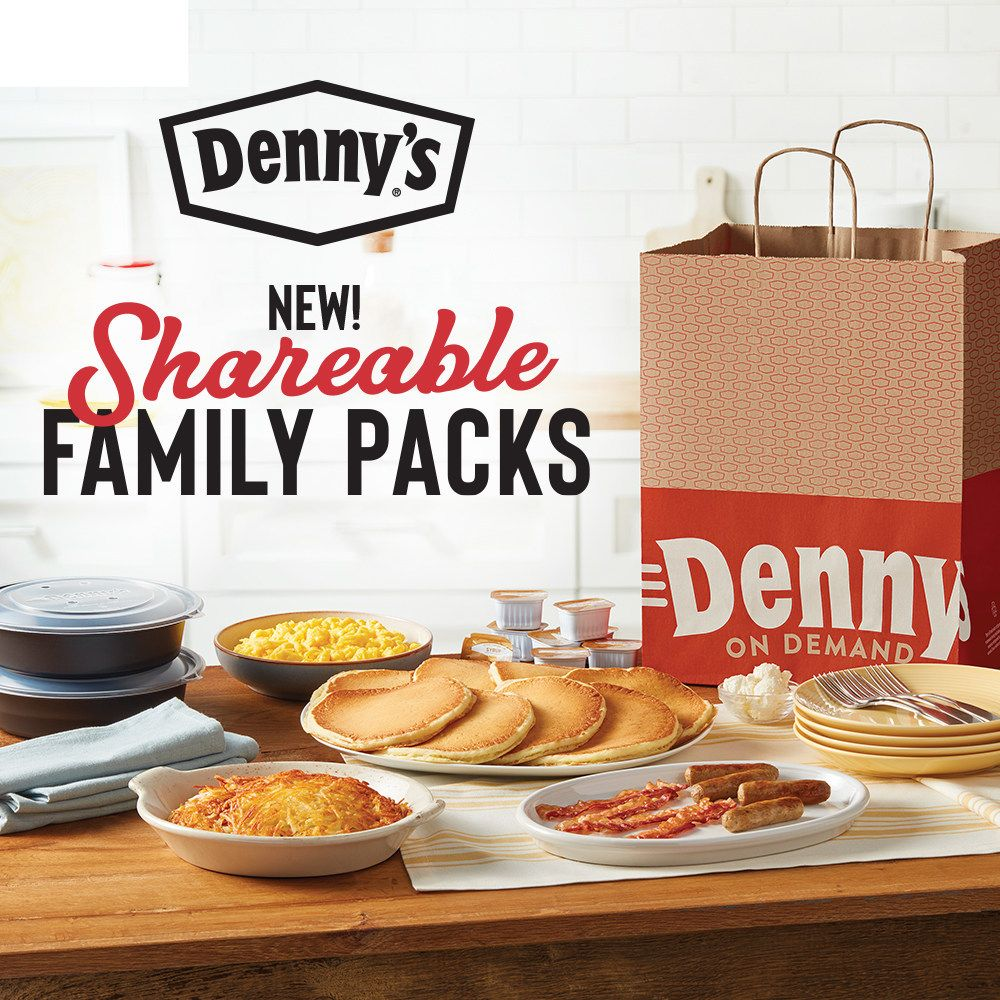 Denny's Introduces Shareable Family Packs for Convenient At-Home Dining, Available for Free Delivery and Takeout
