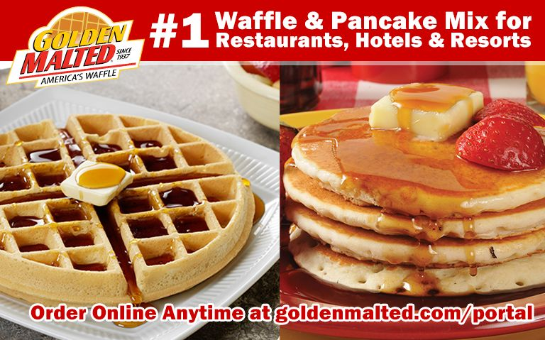 #1 Waffle & Pancake Mixes for Restaurants & Hotels - Golden Malted is Here When You Open
