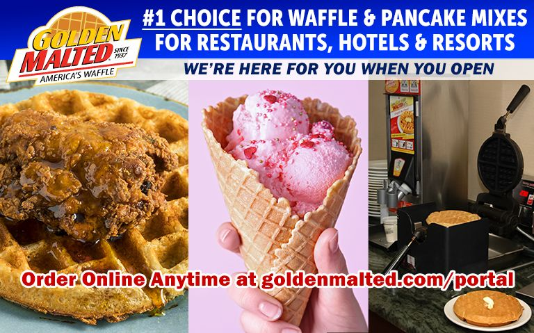 Golden Malted is Here When You Open - #1 Choice for Waffle & Pancake Mixes for Restaurants & Hotels