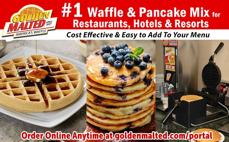 Serve America's #1 Waffles & Pancakes - Golden Malted Makes it Easy & Cost Effective for Restaurants
