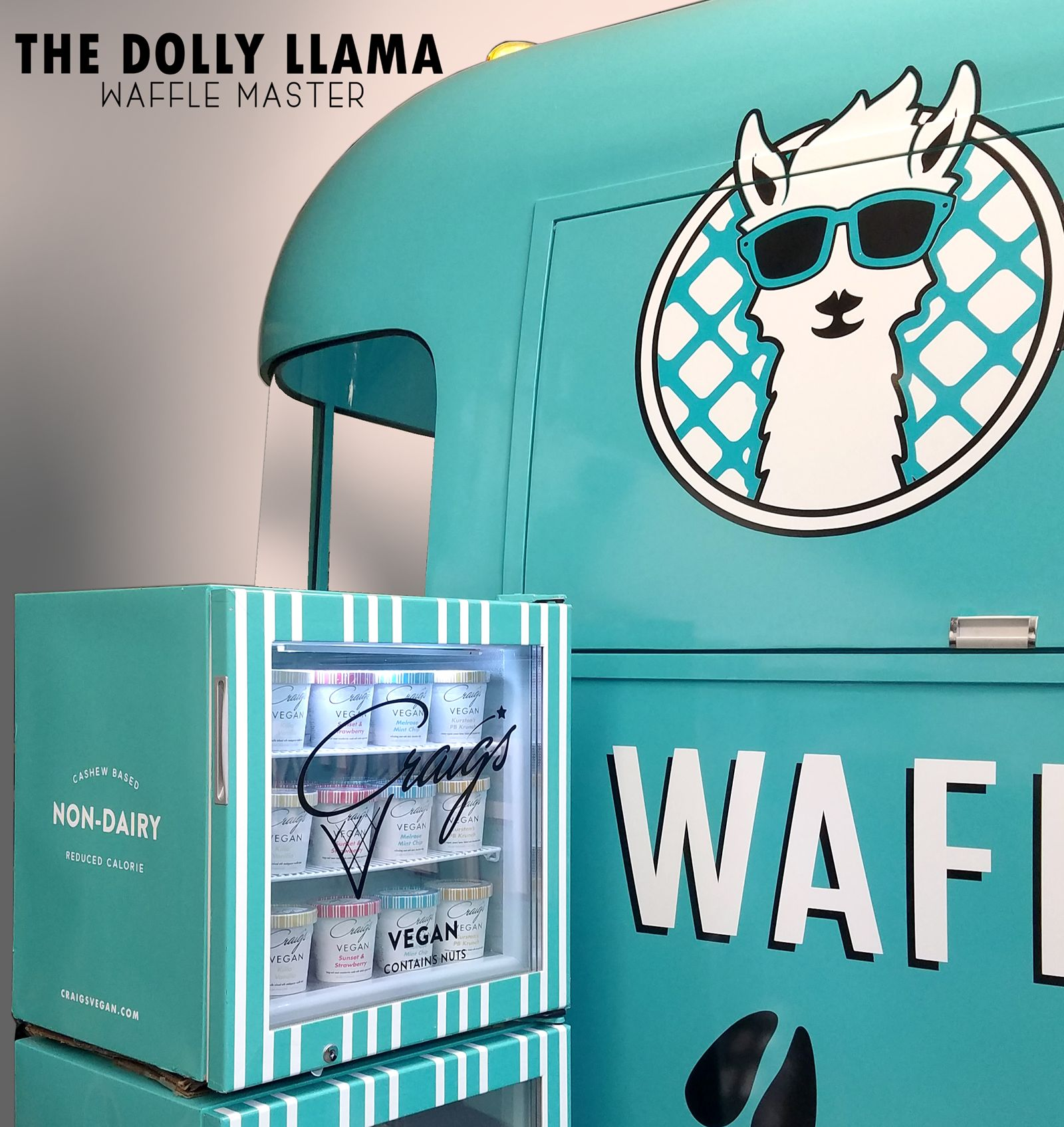 The Dolly Llama introduces new vegan-friendly desserts, four new vegan ice cream flavors, and pints to-go through new partnership with Los Angeles-based Craig's Vegan.