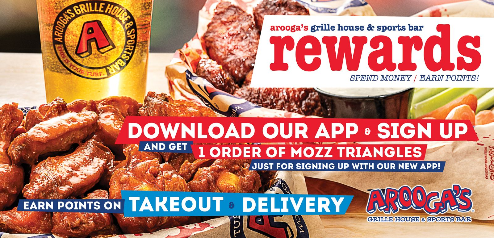 Arooga's Grille House & Sports Bar Launches New Mobile App and Loyalty Program