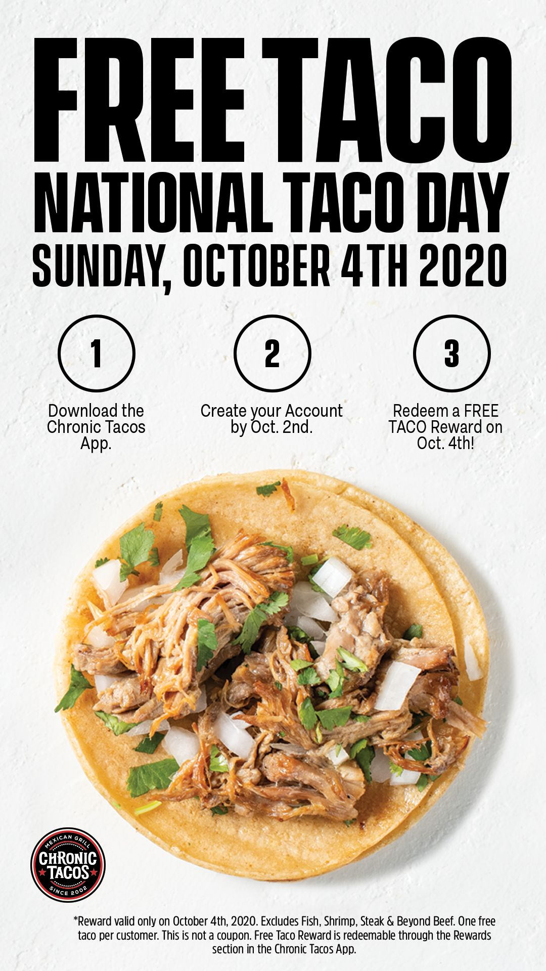 Chronic Tacos Gives Away Free Tacos for National Taco Day Oct. 4