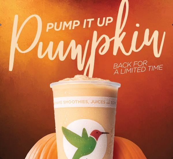 Robeks Debuts Fall Menu Featuring Pumpkin, Cinnamon Spice and Chai Flavors