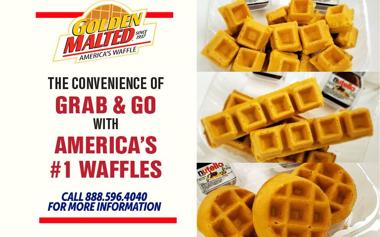 The Convenience of Grab & Go with America's Favorite Waffles - Golden Malted is the #1 Choice