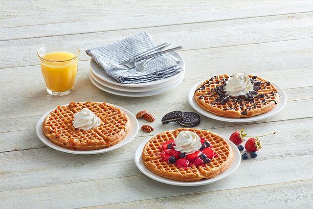 Huddle House Topped Waffles